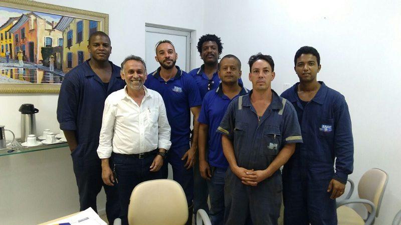 equipe de manutenção do SAAE Alagoinhas